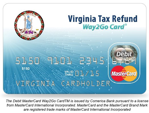 Sample Virginia Tax Refund Debit Card1