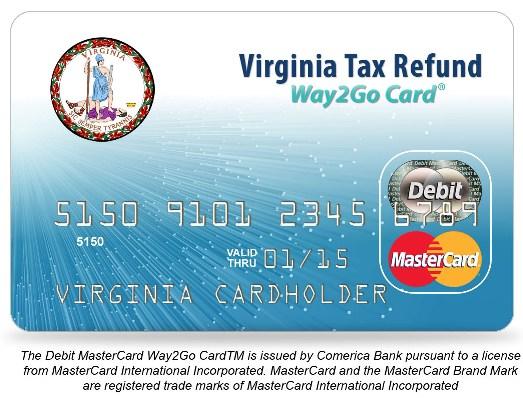 Sample Virginia Tax Refund Debit Card1