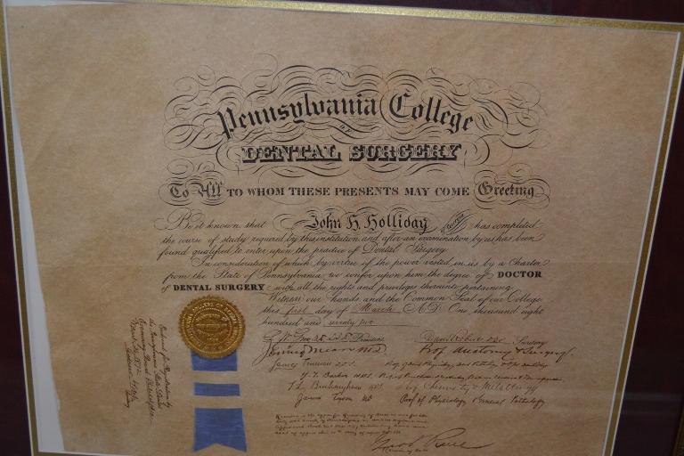 Doc Holiday Diploma 1
