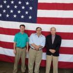 (L-R) Hank Benson, Roger Malouf, Jim Garrett