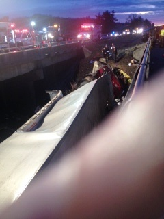 Second crash below on Rt. 90 (VSP photo)