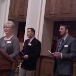 Local Colors exec. dir. Beth Lutgen (at podium)