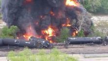CSX Oil Train Derailment Fire