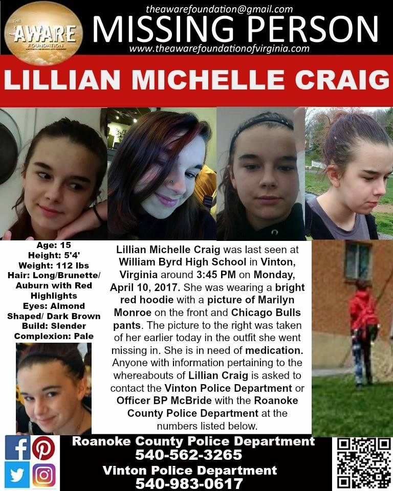 Missing 15 Year Old Girl Found: Missing 15-year-old Girl In Need Of Medication