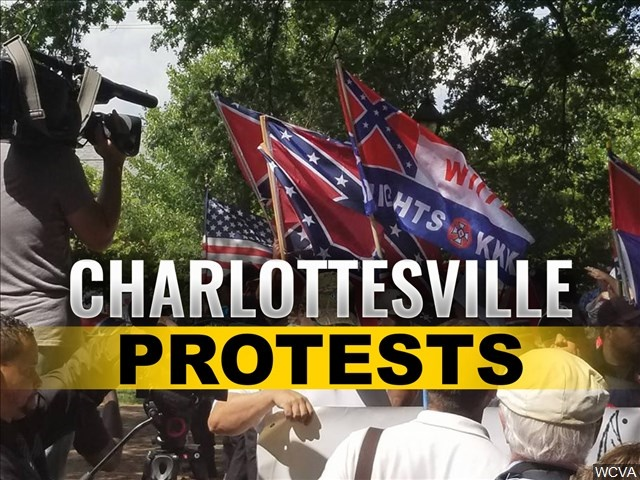 White supremacists brandishing torches return to Confederate statue in Charlottesville