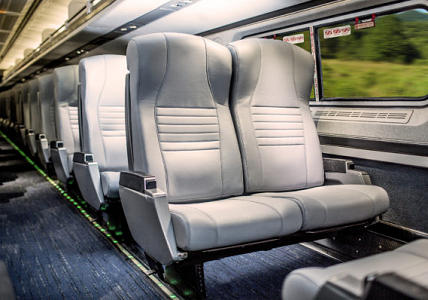 Amtrak shows off new seats at Roanoke exhibit