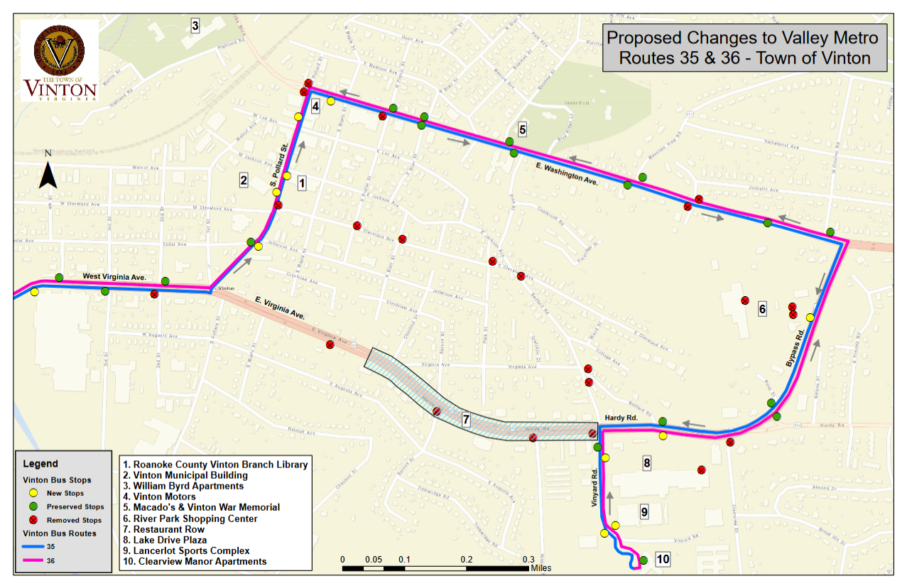 New Vinton Bus Routes Take Effect Soon See The New Map News Talk