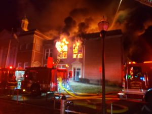 UPDATE: Arson confirmed in former Bedford Middle School fire