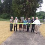 Another segment of greenway system dedicated this morning in Vinton
