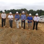 A groundbreaking in Franklin County  for Virginia Furniture Market.