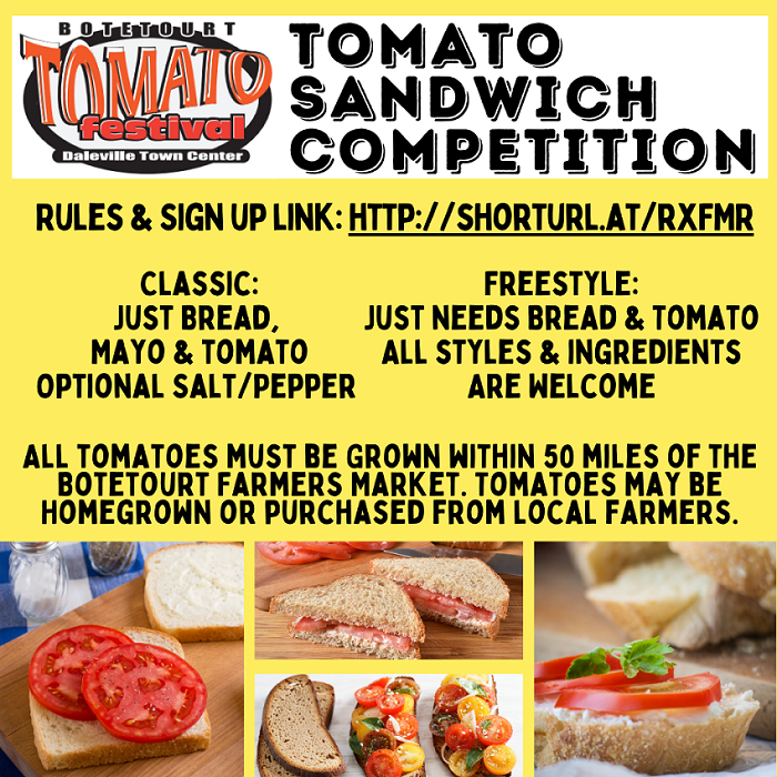 Inaugural Tomato Sandwich Competition accepting entries until next week