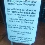 Famous Anthony's to close Crystal Spring location